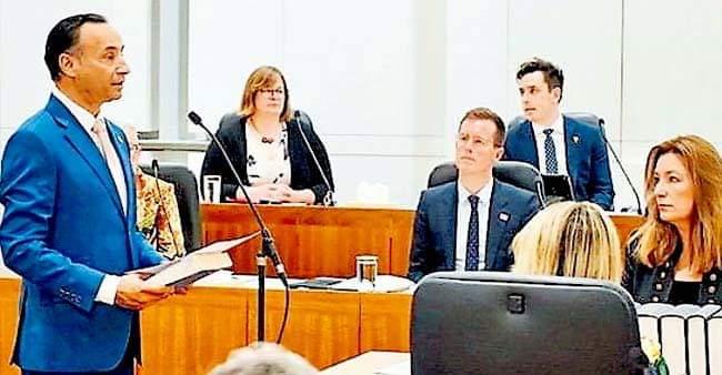 India born Deepak Raj took oath as Legislator in Australia with 'Bhagavad Gita'