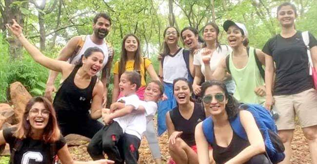 Kumkum Bhagya gang went out for trekking & had fun | Laughing Colours