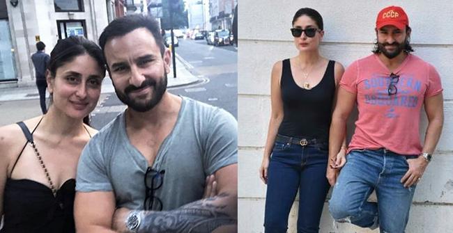 Kareena Kapoor Khan and Saif Ali Khan Posing Together for a Photo, Saif's Tattoo Grabs the Attention