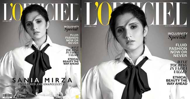 Stylish and fashionable Sania Mirza turns cover girl for L'Officiel's magazine
