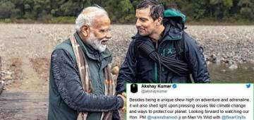Mixed feeling on Twitter, as PM Modi features in Man Vs Wild