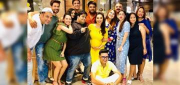 Kapil Sharma attends friend's baby shower with pregnant wife Ginni and TKKS team