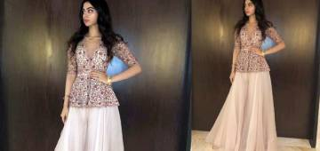 Khushi Kapoor looks stunning in a romantic sharara at a Bali wedding