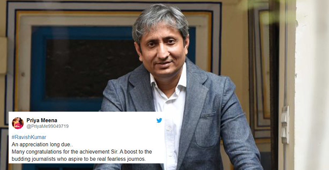 Congratulations galore for Ravish Kumar after winning Ramon Magsaysay Award