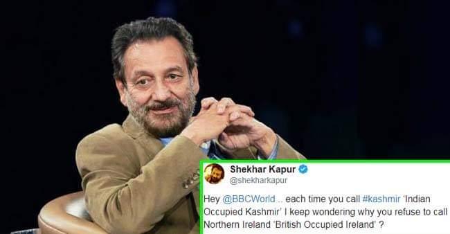 Shekhar Kapur slams BBC for their 'Indian Occupied Kashmir' terminology