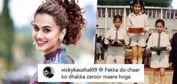 Taapsee Pannu's throwback picture has Anurag Kashyap and Vicky Kaushal poking fun at her: Chalo koi award to mila