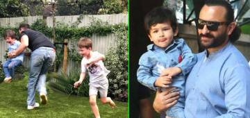 Taimur Ali Khan spends special weekend with his daddy and gives a hearty smile