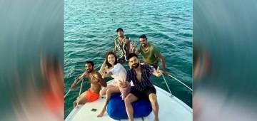 Anushka Sharma enjoys holiday time with hubby Virat & teammates on a yacht