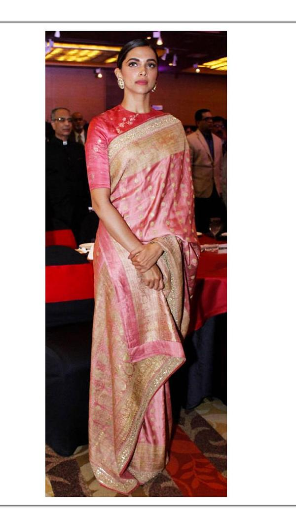 Deepika Padukone silk saree looks that made her look royal ...