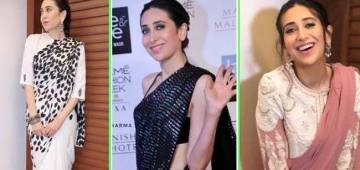 Ten Cocktail Saree looks of Karishma Kapoor that will inspire you