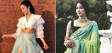 Simple ethnic looks of Jahnvi Kapoor you can draw inspiration from
