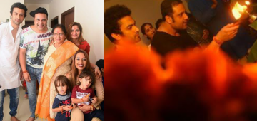 Krushna Abhishek and Kashmera Shah celebrate Ganpati festival with their twins and family members