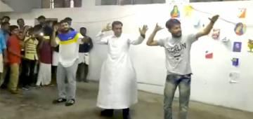 Delhi priest dances to the tunes of popular song 'Kudukku': video turns viral