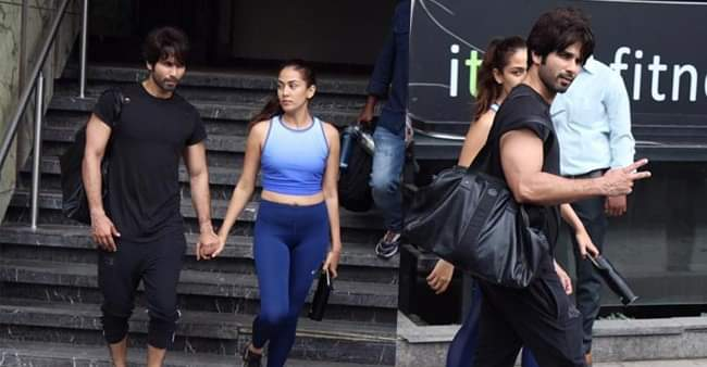 Shahid Kapoor and Mira Rajput walks hand in hand post their gym session