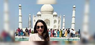 Karisma Kapoor pays a visit to Taj Mahal along with her kids Samiera and Kiaan; shares pics