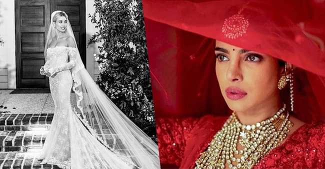 From Hailey to Deepika & Priyanka, celebrities wore personalized dresses on their wedding