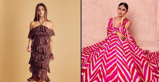 Actress Mouni Roy's fashion sense is becoming commendable day by day