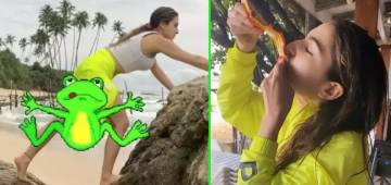 Sara Ali Khan making the most of her Sri Lankan vacation with her friends