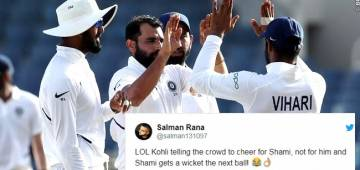 Virat Kohli asks Indore crowd to cheer for Mohammed Shami and not for him, Twitterati Reacts