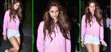 Radhe Star Disha Patani Keeps It Chic In Pink And White For The Outing