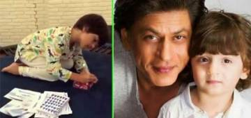 Shah Rukh Khan's little boy AbRam showing off his artistic side is overloaded with cuteness; Watch