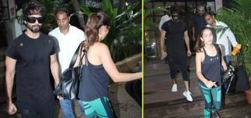Shahid Kapoor snapped with wifey Mira after partying with Katy Perry last night