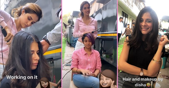 Disha Patani Shows Her New Talent As A Hairstylist On The Sets Of Malang See Pics Laughing Colours