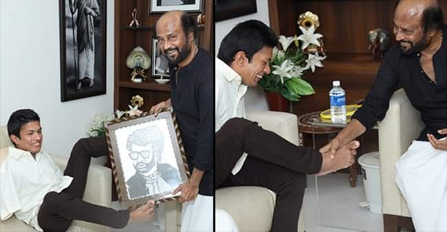 Thalaivaa, Rajnikant winning hearts over internet by meeting his differently abled fan Pranav and his 'Leg Shake'