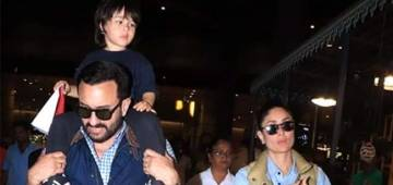 Kareena spotted at the airport with her husband Saif Ali Khan and baby Taimur