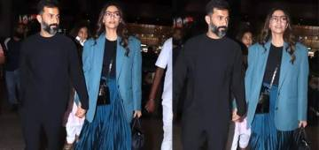 Charming couple Sonam Kapoor and Anand Ahuja came with outstanding winter style