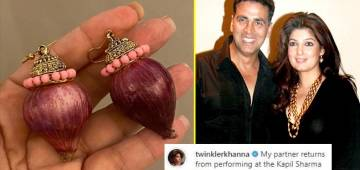 Akki Pleases Wifey Twinkle By Gifting Her Onion Earrings; Her Reaction Is Funny
