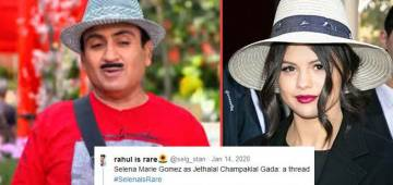 Hilarious comparison between Selena Gomez and Jhethalal looks like a match made in heaven