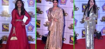 Shilpa, Raveena and Rani brings back nostalgic starry vibes as they walk the red carpet; Pics