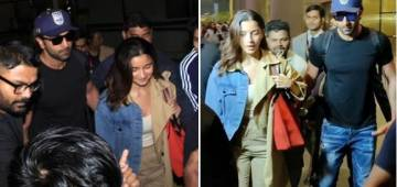 Protective Beau Ranbir Signals Papz To Stay Away From Alia At The Airport