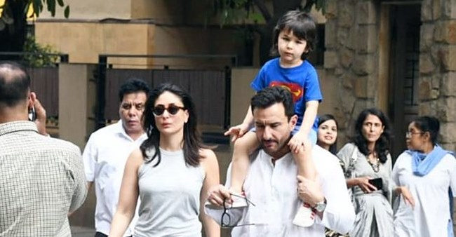 A Casual outing for Taimur Ali khan with parents Saif and Kareena