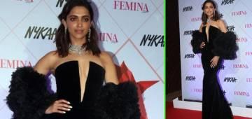 Deepika Padukone looks ravishing at Femina Beauty Awards in her black dress
