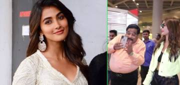 Pooja Hegde's hilarious airport moment as fan doesn't stop clicking pictures