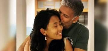 Milind Soman & Ankita Konwar Enjoy Romantic Candlelight Dinner On Valentine's Day
