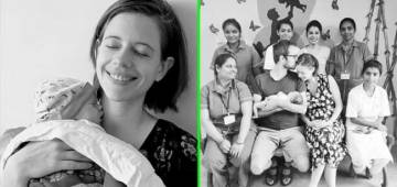 """Kalki Koechlin posts a picture with her baby, captioning it as """"Sleep deprived bliss"""""""
