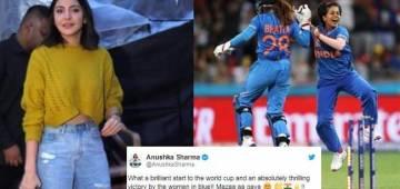 Anushka Sharma congratulates the women in blue