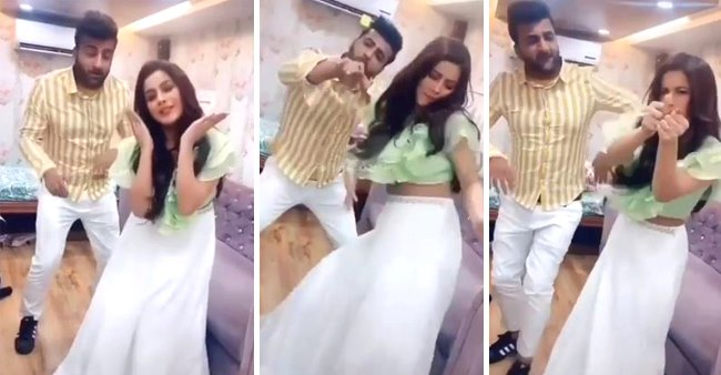 Shehnaaz Gill dances on Dheeme Dheeme with brother Shehbaz