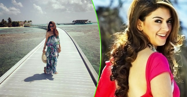Hansika Motwani is having a great time in Maldives and her pic in monokini says it all
