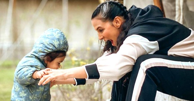 Neha Dhupia shares an adorable pic with daughter Mehr