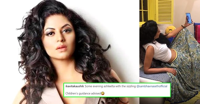Kavita Kaushik gives a befitting reply to netizen that tried to tease her over latest 'kitchen selfie'