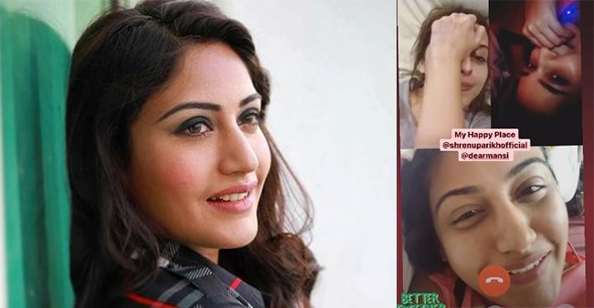 Surbhi Chandna Reunites With Ishqbaaaz Girls Mansi & Shrenu By Having A Video Call