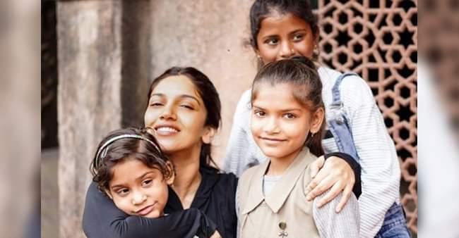 Bhumi Pednekar had a gala time with orphanage kids on 'Durgavati' sets, internet loves it
