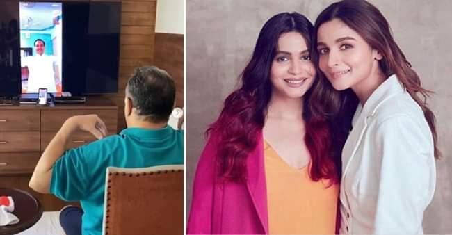 """Veteran actor Rishi Kapoor practices virtual yoga, Alia Bhatt comments """"superb"""""""