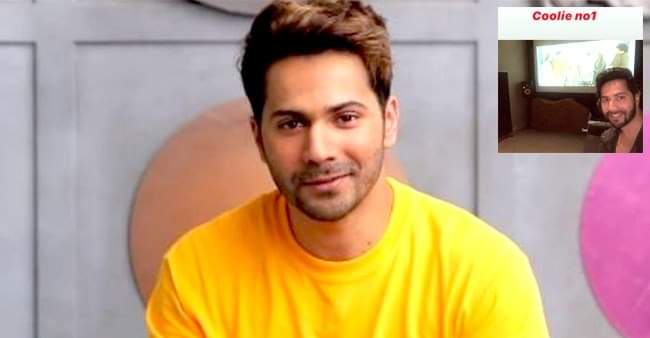 Varun Dhawan shares a snap from his movie, Coolie No. 1 unknowingly