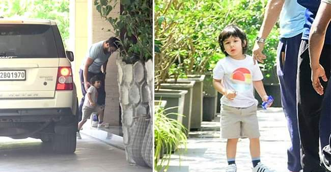 Taimur Ali Khan's day out with his father Saif Ali Khan