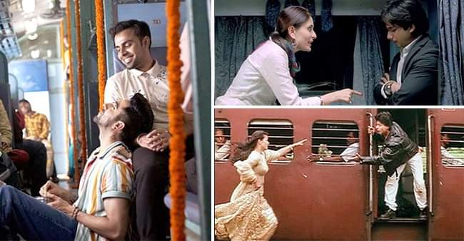 Idea of romance on train used in movies like 'DDLJ' and many more